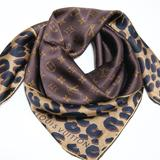 Louis Vuitton Accessories | Iconic Monogram Leopard Print Silk Satin Scarf | Color: Brown/Tan | Size: Os