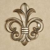 Louis VII Fleur de Lis Wall Plaque Antique Gold , Antique Gold
