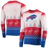 Men's FOCO White Buffalo Bills Big Logo Knit Ugly Pullover Sweater