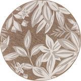 Dakota Fields Edda Transitional Floral Area Rug Polypropylene in Brown, Size 0.04 D in | Wayfair F5E2DCA96F33489C993B30DA64542735