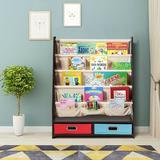 Latitude Run® Book & Toys Organizer Shelves Wood in Brown, Size 34.0 H x 28.0 W x 11.0 D in | Wayfair ABA469D9359C465297333A0EDAD3D623