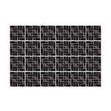 Walplus WT1590X2 - Vintage Pink Marble Mosaic Wall Tile Sticker Set - 15Cm (6In) - 48 Pcs Vinyl/PVC in Black, Size 5.91 H x 5.91 W x 0.01 D in