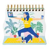 """""""""""""""Work From Home Warrior"""""""" Wire-Bound Notebook, Multicolor"""""""