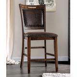 Furniture of America Barstools & Stools Distressed - Dark Oak Kalgan Counter Chairs - Set of Two