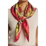 Baroque Teddy Bear Print Silk Scarf In Fantasy Print Red At Nordstrom Rack - Red - Moschino Scarves