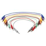 Hosa CSS-845 1/4-inch TRS Male to 1/4-inch TRS Male Patch Cable 8-pack - 1.5 foot (Various Colors)