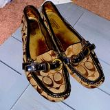 Coach Shoes | Coach Slip On Loafers Casual Dress Shoes Size 9 | Color: Brown/Tan | Size: 9