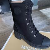 Michael Kors Shoes   Michael Kors Canvas Combat Boot New   Color: Black   Size: 9.5