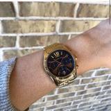 Michael Kors Accessories | Michael Kors Lexington Mk6206 Womens Quartz Watch | Color: Blue/Gold | Size: Os