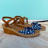 American Eagle Outfitters Shoes   Girls Cute Wedge Sandals   Color: Blue/Tan   Size: 4.5g