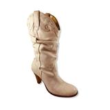 Jessica Simpson Shoes | Jessica Simpson White Leather Fashion Cowboy Boots | Color: Cream | Size: 7.5