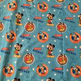 Disney Other | Mickey Mouse And Friends Kids Flat Sheet Crib | Color: Blue | Size: Crib Flat Sheet