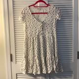 American Eagle Outfitters Dresses   Ae White Floral Babydoll Dress   Color: Blue/White   Size: S
