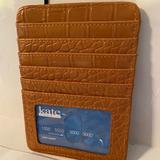 Coach Accessories | Kate Spade Tan Leather Rfd Security Card Wallet | Color: Tan | Size: 5 Cards 1 License 1 Bill Slot & Zipper Slot