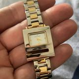 Nine West Accessories | Nine West Square Face Gold Silver Watch | Color: Gold/Silver | Size: 7 Length