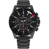 Black Stainless Steel Bracelet Watch 44mm - Black - Tommy Hilfiger Watches