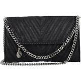 Quilted Chain Crossbody Bag - Black - Stella McCartney Shoulder Bags