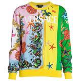 Tr Sor De La Mer Crewneck - Yellow - Versace Knitwear
