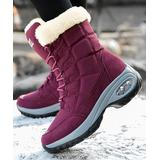 Senbay Women's Casual boots Red - Red & White Lace-Up Snow Boot - Women