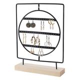 Gurney Rack Jewelry Boxes and Organizers black - Black Rotating-Center Square Jewelry Stand