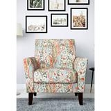 Handy Living Multi-Orange Paisley Transitional Flared Armchair in Multi-Paisley