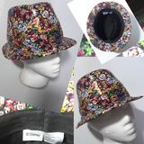 Disney Accessories | Disney Floral Sequin Fedora Style Hat | Color: Black/Pink | Size: Os