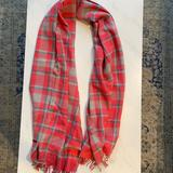 J. Crew Accessories | J. Crew Wool Flannel Scarf | Color: Gray/Pink | Size: Os
