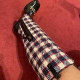 Gucci Shoes | Gucci Red Zumi Check Tweed Knee Boots | Color: Black | Size: 10