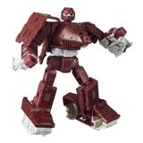 Transformers Toys Generations War for Cybertron: Kingdom Deluxe WFC-K6 Warpath Action Figure in Maroon