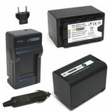 Wasabi Power Battery and Charger Kit for Panasonic VW-VBD58 Batteries in Black