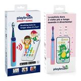 Playbrush Smart Sonic Kids Electric Toothbrush (Blue/Pink and Blue/Red, 2-Pack) in Blue/Pink/Red