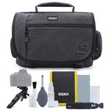 Koah Tillary Messenger Camera Bag with Accessory and Cleaning Kit Medium in Black