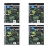 """Itoya of America, Ltd Itoya Art Portfolio Polyglass Refill Pages (Set of 10/Size: 8.5"""" x 11"""") 4-Pack in Clear"""