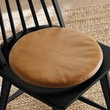 Leather Round Seat Cushion - Ballard Designs