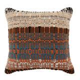 Jaipur Living Zyan Indoor/ Outdoor Orange/ Blue Trellis Poly Fill Pillow 22 inch - Jaipur Living PLW103722