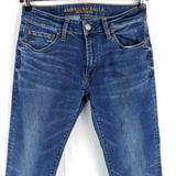 American Eagle Outfitters Jeans   American Eagle Extreme Flex Slim Straight Blue Jeans Mens 28x29   Color: Blue   Size: 28