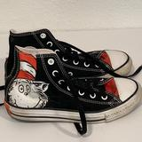 Converse Shoes   Converse All Star Dr. Seuss High Top Sneakers Canvas Black White Junior Size 2   Color: Black/White   Size: Converse Junior Size 2 ~ Youth Big Kids