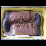 Tory Burch Shoes | New $398 Tory Burch Argyll Shearling Rain Winter Snow Boot Lace Up 6 Brown | Color: Brown | Size: 6
