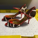 J. Crew Shoes | J Crew Peep Toe Sandals Size 8 | Color: Brown/Cream | Size: 8