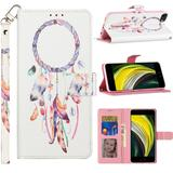 Dream Catcher Design Fashion Mobile Phone Wallet Case with Card Slots and Strap, Multi-Color For iPhone SE 2020