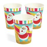 Oriental Trading Company Luau Santa 9Oz Cup, Party Supplies, Print Tableware, Christmas, 8 Pieces | Wayfair 13910014