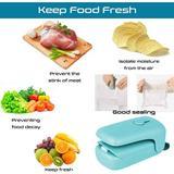 SUN Bag Sealer, 2 In 1 Handheld Heat Plastic Bag Sealer & Mini Portable Sealer in Blue, Size 1.5 H x 1.57 W x 2.76 D in | Wayfair SUNa863f73