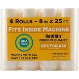 "SUN 8"" X 25' Rolls (Fits Inside Machine) - 4 Pack (100 Feet Total) Vacuum Sealer Rolls. Works w/ Foodsaver Vacuum Sealers. 33% Thicker, BPA Free"