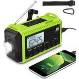 365usdeal Emergency Solar Hand Crank Radio in Green, Size 6.5 H x 3.7 W x 2.9 D in | Wayfair PDWR-007