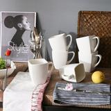 Ebern Designs Hafsha Blance Porcelain Coffee Service Mug Set, 6 Piece, 11.5OZ Ceramic in Brown/Green/White, Size 4.5 H in | Wayfair