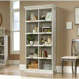 Rosalind Wheeler Tall Bookcase Wood in White, Size 75.0 H x 35.5 W x 13.5 D in | Wayfair C7C80D1AF50F4D56BA0C2FE8C2CE26C9