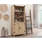 Red Barrel Studio® 3-Shelf Double Door Bookcase Wood in Brown, Size 15.5 D in | Wayfair 3CD9FE37B1C6475591BBDB5006BFF493