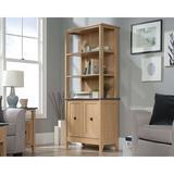Red Barrel Studio® 3-Shelf Double Door Bookcase Wood in Brown, Size 15.5 D in | Wayfair A7A11D1AC91448E69B3E9750BC78D5BA