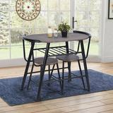 17 Stories 3 - Piece Breakfast Nook Dining Set in Black/Brown, Size 29.5 H in | Wayfair 11C8DC8E89F24143ABC50E487FA8A596