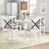 Sand & Stable™ Captiva 4 - Person Dining Set Wood in Brown/White, Size 29.5 H in   Wayfair C3D74B971D064B148FED7B12EDE3EA5C